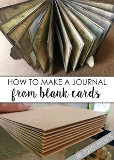 What's On My Porch: How To Make A Journal From Blank Cards notebook homemade journal paper How To Make A Journal From Blank Cards Handmade Journals, Handmade Books, Handmade Notebook, Handmade Rugs, Handmade Crafts, Junk Journal, Journal Paper, Art Journals, Journal Ideas