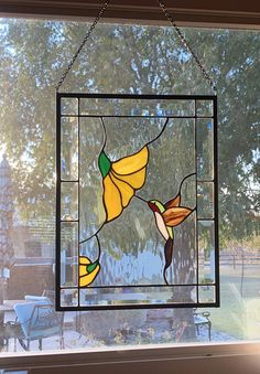 Ruby Throated Hummingbird Stained Glass Panel – Arts and Crafts Hanging Stained Glass, Stained Glass Paint, Stained Glass Flowers, Stained Glass Projects, Stained Glass Windows, Modern Stained Glass Panels, Leaded Glass, Stained Glass Patterns Free, Stained Glass Designs