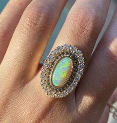 A true one-of-a-kind ring, this opal moval cocktail ring is an absolute MAJOR statement piece! This ring features an opal, alexandrite and old cut white diamonds. Alternative Bridal Jewellery, Fine Jewelry, Jewelry Making, Pink Sapphire, Yellow Diamonds, Gothic Steampunk, Steampunk Clothing, Victorian Gothic, Steampunk Fashion