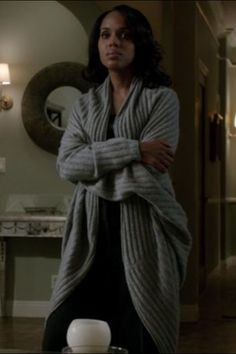Sweater Girls: A Taxonomy  #refinery29  http://www.refinery29.com/sweaters-for-women-trends#slide-27  27. Olivia Pope in ScandalIn the television drama Scandal, political crisis manager Olivia Pope (Kerry Washington) rarely wears anything other than power suits and sleek workwear, but when she's not sporting those pieces, she can be seen in her loungewear, which usually consists of a slouchy sweater and silk pants....