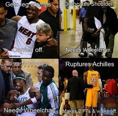 Kobe Bryant injuries against other players