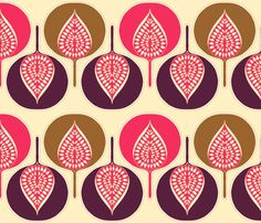 tree_hearts_multi_pink fabric by holli_zollinger on Spoonflower - custom fabric