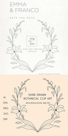 Hand-drawn botanical Illustration for personal and commercial uses. Elements are fully editable with illustrator. You can use it for business logo and illustration for like Bridal, Fashion, and Dress Boutique. It is very easy to edit. Just open it with photoshop or illustrator and now start editing as like as you want.#flower #frame #cards #border #prints Botanical Illustration Black And White, Rose Line Art, Modern Resume Template, Floral Wreaths, Flower Frame, Bridal Fashion, Botanical Art, Business Logo, Graphic Design Inspiration