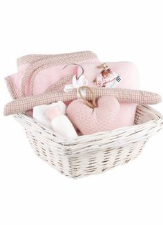 Personalized baby gift baskets Baby Baskets, Laundry Basket, Gift Baskets, Personalized Baby Gifts, Bassinet, Wicker, Decor, Sympathy Gift Baskets, Crib