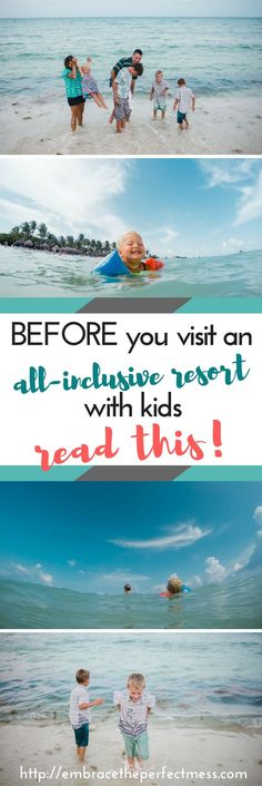 We learned so much on our first trip to an all-inclusive resort. These tips would have been so great to know before our vacation to Mexico with kids. Things to when when traveling to an all-inclusive resort with kids.
