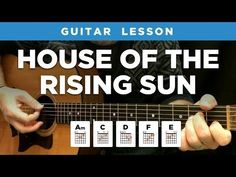 """House of the Rising Sun"" guitar lesson w/ chords & tabs (The Animals) - YouTube"