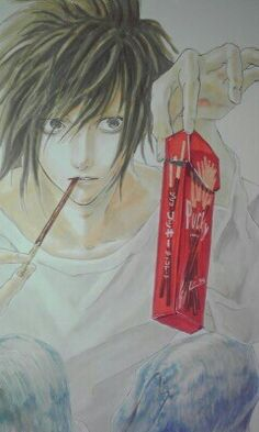 Death note, OHH MY GOSH I WANNA BE ON THE OTHER SIDE OF HIS POCKY STICK!!!