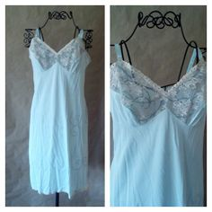Vintage Slip Dress  Vanity Fair Something Blue by RoryLaRueVintage, $22.00
