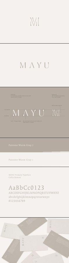 MAYU Logo & Brand Identity via Behance