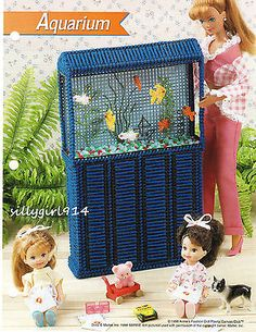 """FISH TANK""~Annie's Attic Plastic Canvas PATTERN ONLY fits BARBIE FASHION DOLL"