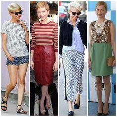 Petite Celebrity Style. Michelle Williams.