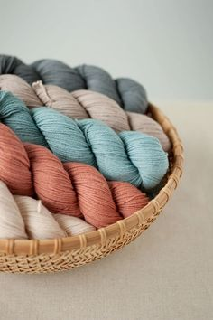 finch yarn ~ quince. Such a perfect pallet