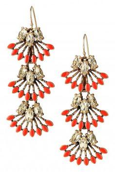 Stella  Dot Coral Cay Earrings