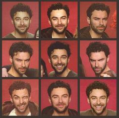 Aidan Turner ♡♡♡♡♡ | I love his eyes and eyebrows he can look scary angry/brooding one moment and the next he's got those huge puppy eyes that make me melt #fangirling #sorryimnotsorry