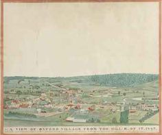 A View of Oxford Village, New York 1825.
