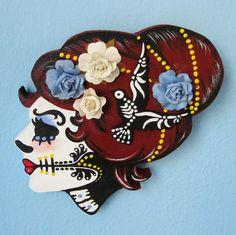 Just beautiful! #art #skulls #Day_of_the_Dead