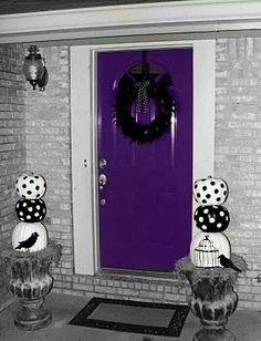 Awesome purple door