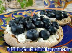 Mock Blueberry Cream Cheese Danish (Weight Watchers  = 2 Points )