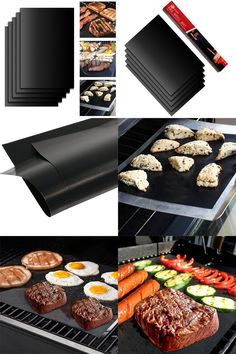 [Visit to Buy] 4YANG 5pcs/Set Reusable BBQ Grill Mat Pad Sheet Hot Plate Portable Outdoor Nonstick Bakeware Cooking Tool BBQ Accessories #Advertisement