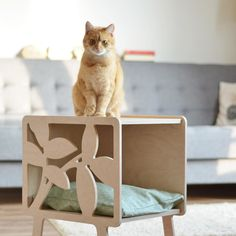 Pet Furniture, Furniture Design, Wood Projects, Woodworking Projects, Cat House Diy, Cat Hacks, Cat Towers, Cat Playground, Wood Animal