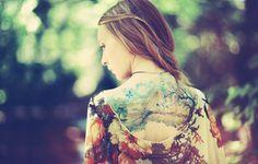 Girl Back Tattoos Nature Blur Wallpaper