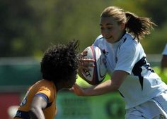 Penn State's Sadie Anderson, 22, plays in the USA Rugby Women's College Championships in 2011 against Virginia.