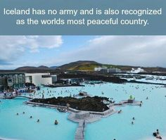 BLUE LAGOON, ICELAND - Just a drive from Reykjavik the lunar landscape of the Blue Lagoon is Iceland's most famous attraction. Don't miss a soak in these milky, mineral-rich waters heated from deep within the earth. Wtf Fun Facts, Funny Facts, Random Facts, Crazy Facts, Beautiful Places To Travel, Cool Places To Visit, Romantic Travel, Dream Vacations, Vacation Spots
