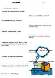 English worksheet: Riddles