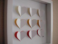 3D Valentine Wall Art  Sunshine Hearts - Cream, Yellow, Orange