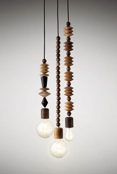 This set of three, includes the Aleenta, Abacus and Aztek pendants. Each pendant comes complete with a nickel ceiling rose for permanent installation. The lights can be hung on their own as a single drop pendant or alternatively in a cluster. Plea...