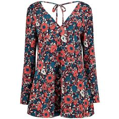 Petite Lara Floral Boho Smock Dress ($2.86) ❤ liked on Polyvore featuring dresses, floral dress, boho chic dresses, boho style dresses, flower print dress and smocked dresses