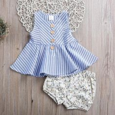 Striped Floral Set {Pre-Order}