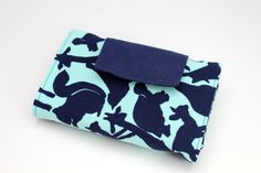 Blue Animal Crayon Wallet  8 Crayon Size with by Threadbyktoo