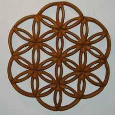Flower of Life Wood Carving - Drunvalo Melchizedek - Seed of Life