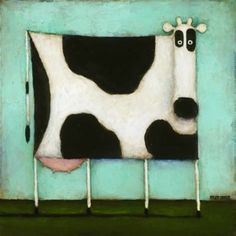 Kessler Trademark Global Daniel Patrick 'Turquoise Cow' Canvas Art - 14 x 14 x 2 Cow Canvas, Canvas Art, Cow Art, Whimsical Art, Animal Paintings, Illustration Art, Artsy, Turquoise, Art Prints