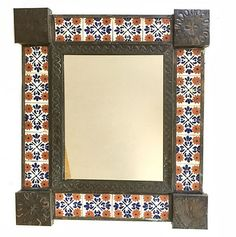 :D❤️Mexican Tiled Mirror #Southwestern