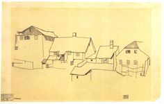 egon schiele landscape drawings - Google Search