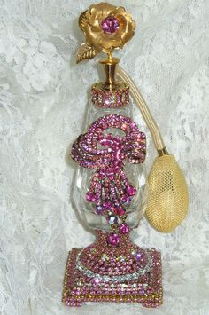 Antique Bejeweled Perfume Bottle 21 By Debbie Del Rosario