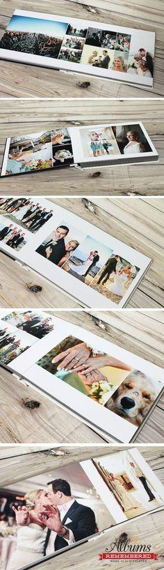 Professional wedding album design www.albumsremembered.com #WeddingAlbums