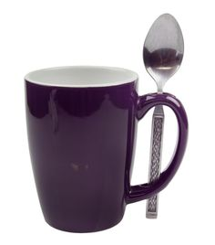 White and Purple Coffee Mug