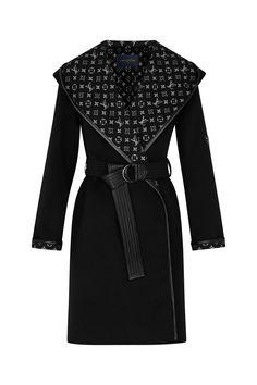 Haute Couture Style, Winter Coats Women, Coats For Women, Jackets For Women, Ropa Louis Vuitton, Louis Vuitton Clothing, Louis Vuitton Sweater, Louis Vuitton Dress, Wrap Coat