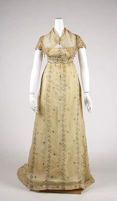 Ensemble: ca. 1810, French, cotton.