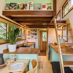 Tyni House, Tiny House Loft, Small Tiny House, Modern Tiny House, Tiny House Living, Tiny House Plans, Tiny House On Wheels, Tiny House Design, Tiny Tiny