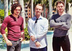 the boys of Game of Thrones part 2:  Jon Snow, Theon, Robb.