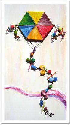 Η χαρά της δημιουργίας: Χαρταετός! Χρώματα, σκέψεις κι ομορφιά...πνοή κι ανάσα… Clay Projects, Clay Crafts, Diy And Crafts, Crafts For Kids, Kids Clay, Clay Birds, Air Dry Clay, Spring Crafts, Pottery