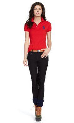 Skinny-Fit Big Pony Polo Shirt - Polo Ralph Lauren Polos - RalphLauren.com 448cb12d948