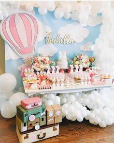 Baby Shower Ideas- 35 Free Creative Shower Ideas For The Bride Of All Tastes New 2019 - Page 34 of 35 - clear crochet Deco Baby Shower, Baby Girl Shower Themes, Baby Shower Balloons, Baby Shower Decorations, Baby Shower Parties, Decoracion Baby Shower Niña, Travel Baby Showers, Baby Birthday, Shower Ideas
