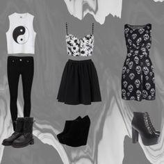 Black and White Teen Fashion