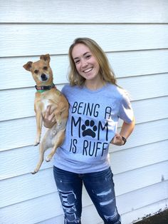 Dog Mom / Women's Graphic Tee / Hipster Graphic Tee / Crazy Dog Lady / Dog Lover / Dog Shirt for Women / Dog Shirt by SlyFoxShirts on Etsy https://www.etsy.com/listing/258389852/dog-mom-womens-graphic-tee-hipster - Tap the pin for the most adorable pawtastic fur baby apparel! You'll love the dog clothes and cat clothes! <3