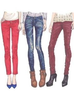 Skinny is the easiest. Pretty much any shoe, from a flat to a gigantic platform to a tall pair of boots works. The thing to remember is the skinny really features the shoe. Skinny pants are like two long arrows pointing down at your feet. So feature some fantastic shoes! Flats look great with cropped skinnies, though you can also leave them long. It's purely a matter of which look you like better. Leaving them longer will, in theory, make your legs look longer, but showing some skin by ...